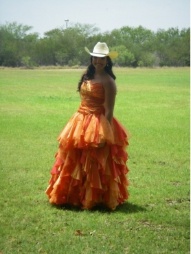 Discount Cheap Ruffles Sweetheart A-Line Orange Quinceanera Dress