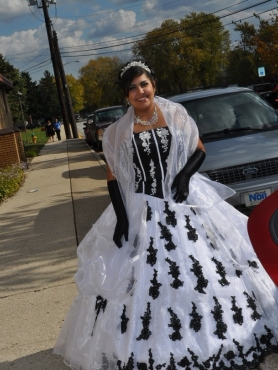 Discount Popular White Appliques Quinceanera Dress