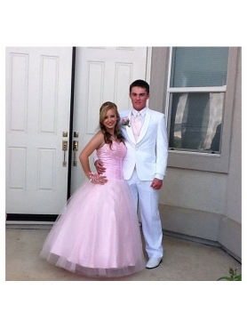 Discount Pretty Beading Sweetheart Pink Quinceanera Dress