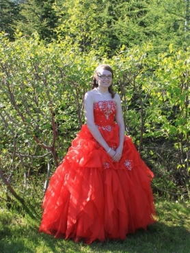 Discount Red Strapless Beading Long Quinceanera Dress