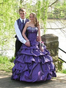 Discount Beading Purple Sweetheart Quinceaner Dress