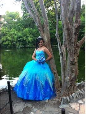 Discount Beading Sweetheart Multi-Color Quinceanera Dress