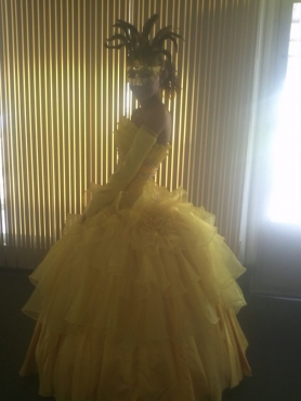 Discount Beautiful Ruffles Strapless Yellow Quinceanera Dress