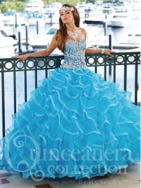 Discount 2014 House of Wu Quinceanera Dress Style HOWF002