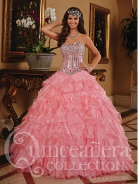 Discount 2014 House of Wu Quinceanera Dress Style HOWF004