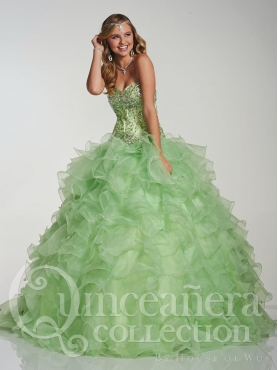 Discount 2014 House of Wu Quinceanera Dress Style HOWF007