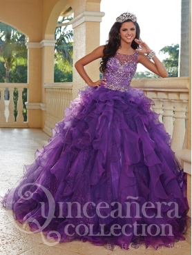 Discount 2014 House of Wu Quinceanera Dress Style HOWF010