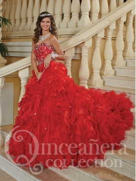 Discount 2014 House of Wu Quinceanera Dress Style HOWF014