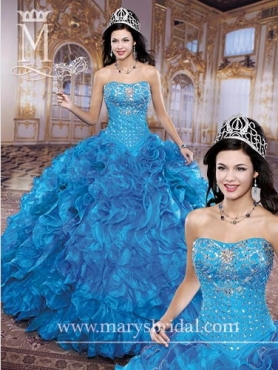 Discount 2014 Marys Quinceanera Dresses Style MAYS007