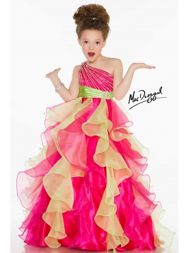 Discount 2014 Macduggal Little Girl Pageant Dress Style JNAD001