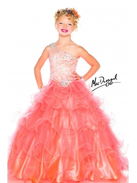 Discount 2014 Macduggal Little Girl Pageant Dress Style JNAD036