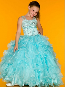 Discount 2014 Macduggal Little Girl Pageant Dress Style JNAD039