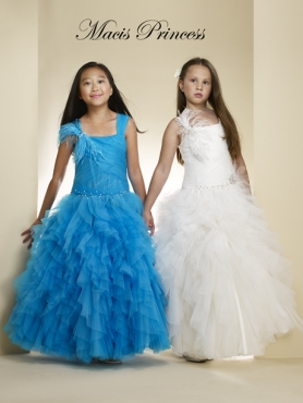 Discount 2014 Macis Flower Girl Dress Style CISA002