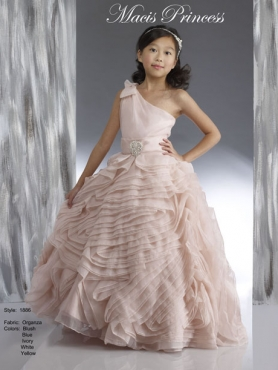 Discount 2014 Macis Flower Girl Dress Style CISA009