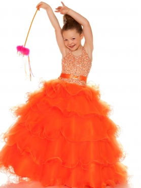 Discount 2014 Macduggal Little Girl Pageant Dress Style MACD005
