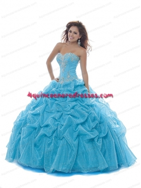 Discount 2014 Discount Appliques and Beading Quinceanera Dress in Blue BNYA032