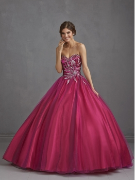 Discount 2014 Elegant Beading Sweetheart Wine Red Quinceanera Dresses NTME003