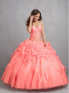 Discount 2014 Gorgeous Beading Sweet 16 Dress in Watermelon Red NTME023