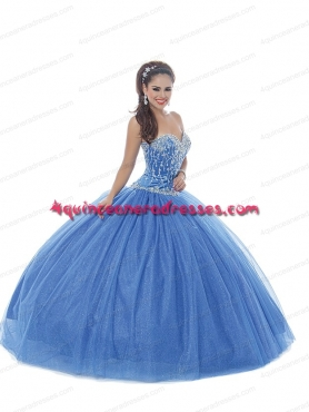 Discount 2014 New Style Blue Quinceanera Gows With Beading BNYA023