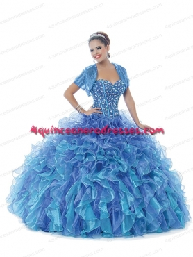 Discount 2014 New Style Sweetheart Quinceanera Dresses in Blue BNYA033