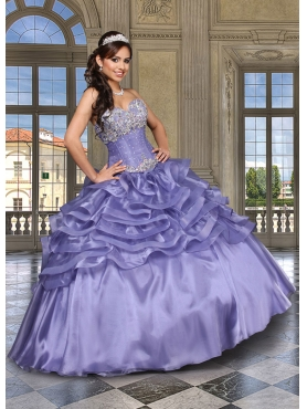 Discount 2014 Romantic Lavender Sweet 15 Dress with Appliques and Ruffles DVCI034