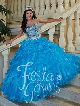 Discount 2014 The Most Popular Blue Quinceanera Dresses with Beading HOWF022