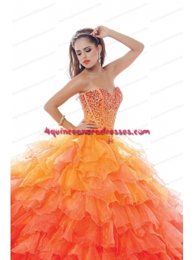 Discount 2015 Pretty Sweetheart Multi-color Quinceanera Dress with Beading BNYA021