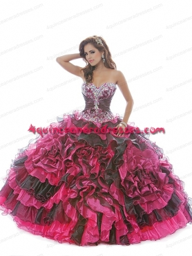 Discount Beading Multi-color New Arrival Sweet 15 dress with Appliques BNYA027