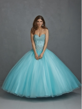 Discount Beautiful Beading Sweetheart Sweet 16 Dress in Aqua Blue For 2015 NTME001