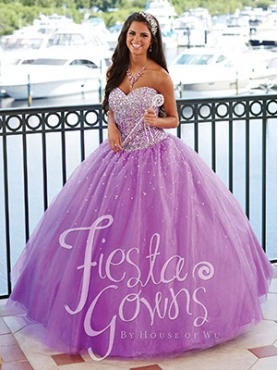 Discount Custom Made Beading Sweetheart Lilac Sweet 16 Dress HOWF020