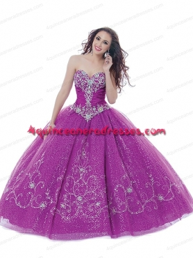 Discount Customize Purple Sweet 15 dress with Embroidery And Beading BNYA028