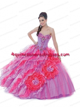 Discount Fashionable Puffy Sweetheart Beading Quinceanera Dress in Multi-color BNYA038