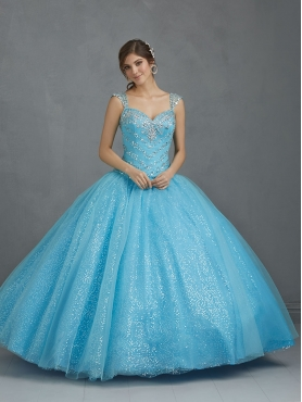 Discount The Most Popular Straps Sequins Appliques Sweet 16 Dress in Blue NTME006