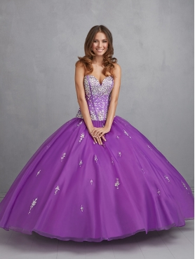 Discount Wonderful Purple Sweet 16 Dress with Beading and Appliques For 2015 NTME017