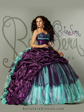 Discount 2015 Detachable Colorful Quinceanera Dress with Pick up BLAS001