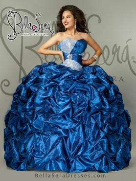 Discount 2015 Sweetheart Blue Quinceanera Dress with Pick up BLAS007