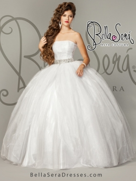 Discount Ball Gown White Sweet Sixteen Detachable Dresses for 2015 BLAS002