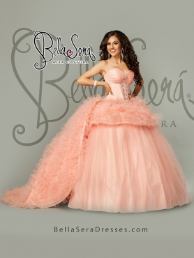 Discount Detachable and Hot Sales Pink Sweet 16 Dress with Beading and Ruffles For 2015 BLAS014