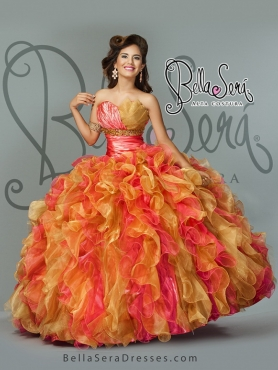 Discount Detachable Multi Color Sweet 16 Dress with Beading and Ruffles BLAS016