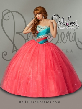 Discount Detachable Sweetheart Coral Red Quinceanera Dress With Beading and Ruffles BLAS003