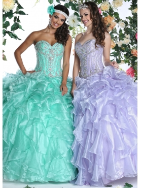 Discount 2015 Brand new Ruffles Quinceanera Dress with Beading DVIC004