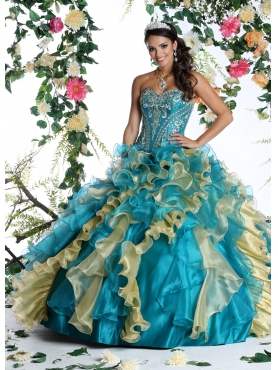 Discount Beautiful Quinceanera Dress with Beading and Ruffles for 2015 DVIC003
