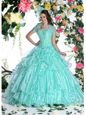 Discount Latest Ball gown Sweetheart Floor-length Quinceanera Dresses DVIC013