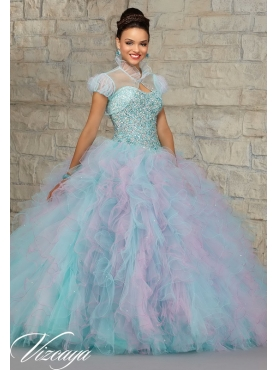 Discount 2015 Classical Multi-color Sweet 15 Dresses with Beading and Ruffles MRLE001
