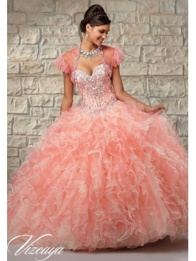 Discount Unique Multi-color Sweet 16 Dresses with Beading and Ruffles for 2015 MRLE004