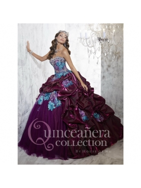 Discount 2015 Multi-color Quinceanera Dresses with Pick Ups and   Appliques HOFW016