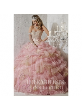 Discount 2015 New Style Quinceanera Dresses with Appliques and Ruffled Layers HOFW003