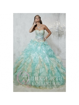 Discount New Arrival Multi-color Dress for Quince with Appliques and Ruffles HOFW004