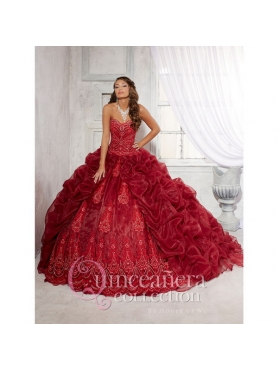Discount Popular Beading and Appliques 2015 Wine Red Quinceanera Dresses HOFW027