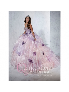 Discount Ruffles and Appliques 2015 Wonderful Quinceanera Dresses in Multi-color HOFW020